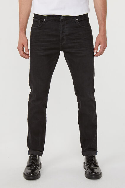 Heren skinny tapered superstretch jeans Zwart