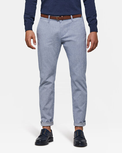 Heren skinny fit chino Lichtblauw