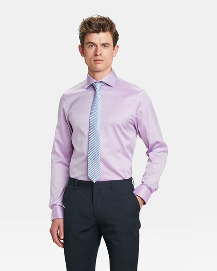 HEREN REGULAR  FIT FINEST COTTON OVERHEMD Lavendel