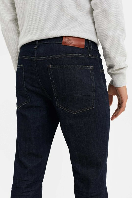 Heren slim fit jeans Donkerblauw