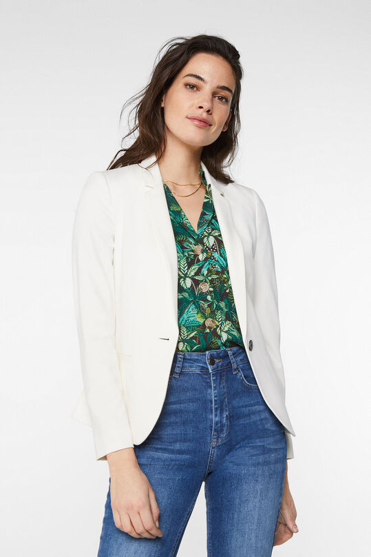 Dames regular fit blazer Ecru