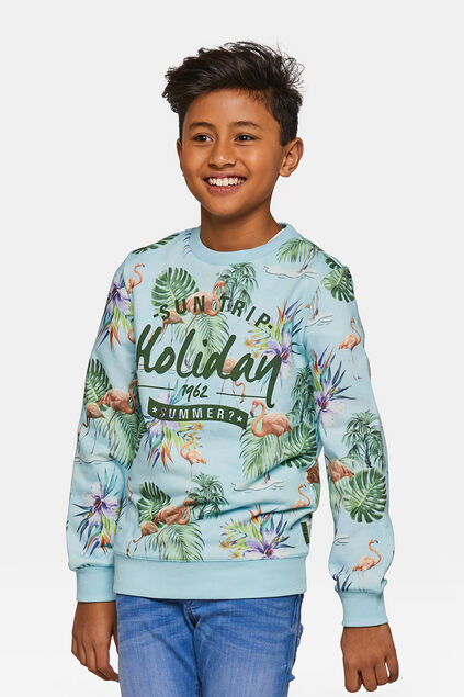 Jongens holiday sweater Lichtblauw