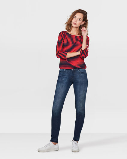 DAMES MID RISE SKINNY 360° STRETCH JEANS Donkerblauw