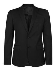 Heren slim fit blazer, Tom_Heren slim fit blazer, Tom, Zwart