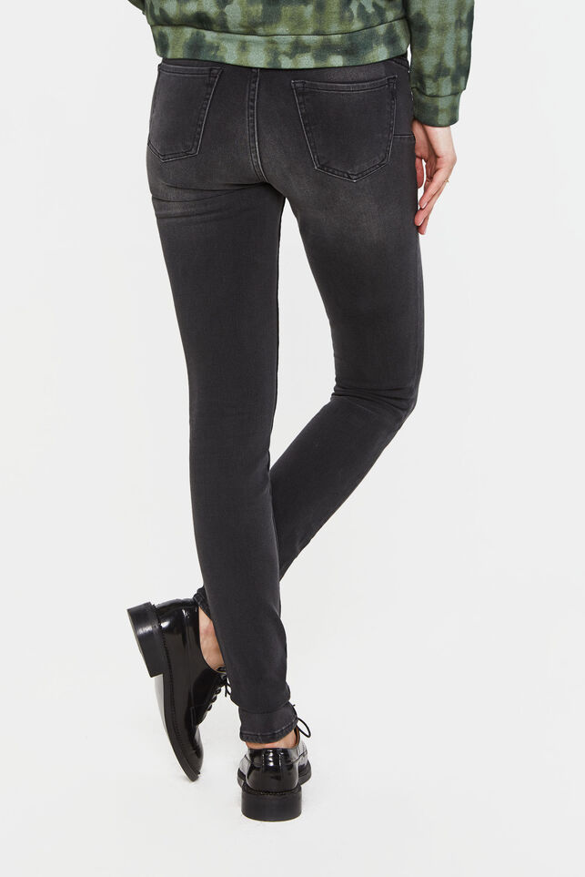 Dames super skinny shaping jeans Donkergrijs