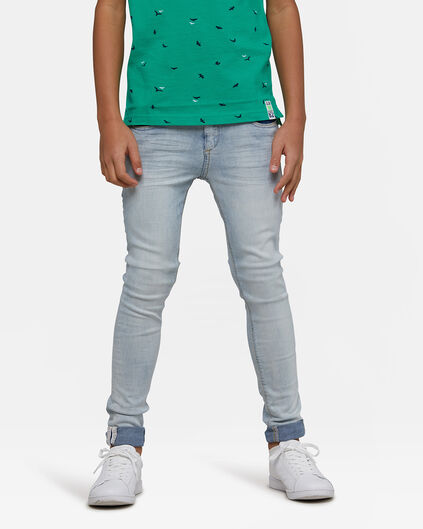 Jongens ultra superskinny super stretch jeans Lichtblauw