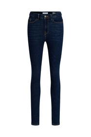 Dames high rise skinny jeans_Dames high rise skinny jeans, Donkerblauw