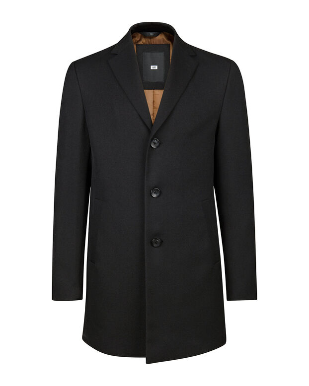 HEREN TOPCOAT Zwart