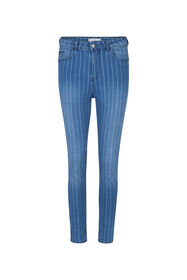 Dames high rise skinny cropped jeans_Dames high rise skinny cropped jeans, Blauw