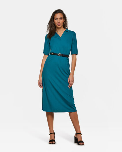 Dames polo dress Turkoois