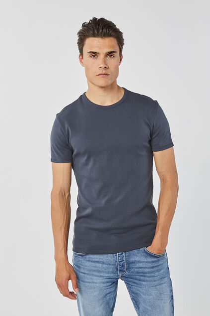 HEREN ORGANIC COTTON T-SHIRT Marineblauw