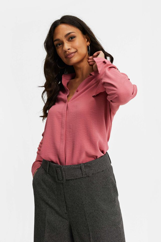 Dames getailleerde blouse Oudroze