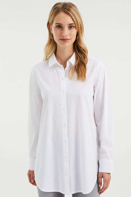 Dames relaxed fit blouse Wit