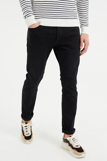 Heren slim fit jeans met super stretch Zwart