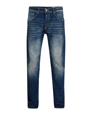 HEREN RELAXED TAPERED COMFORT STRETCH JEANS_HEREN RELAXED TAPERED COMFORT STRETCH JEANS, Blauw