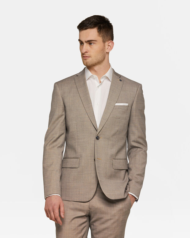 Heren slim fit blazer Jasper Beige