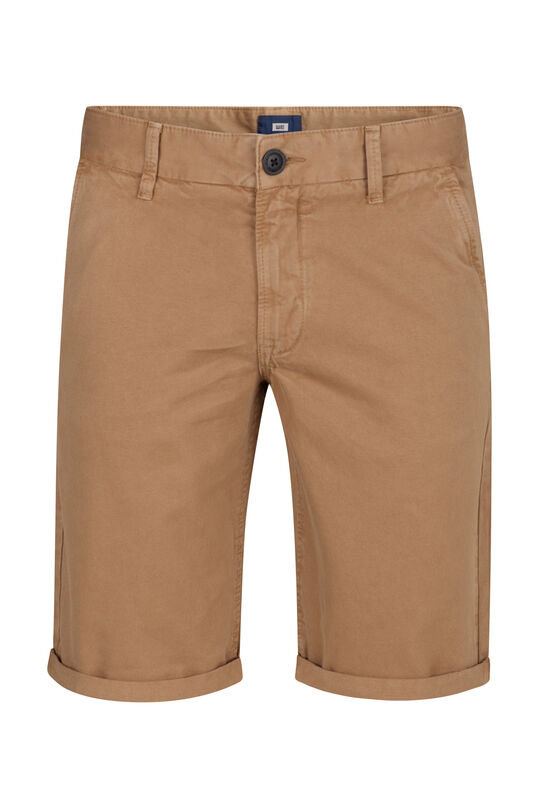 Heren long fit chino short Beige