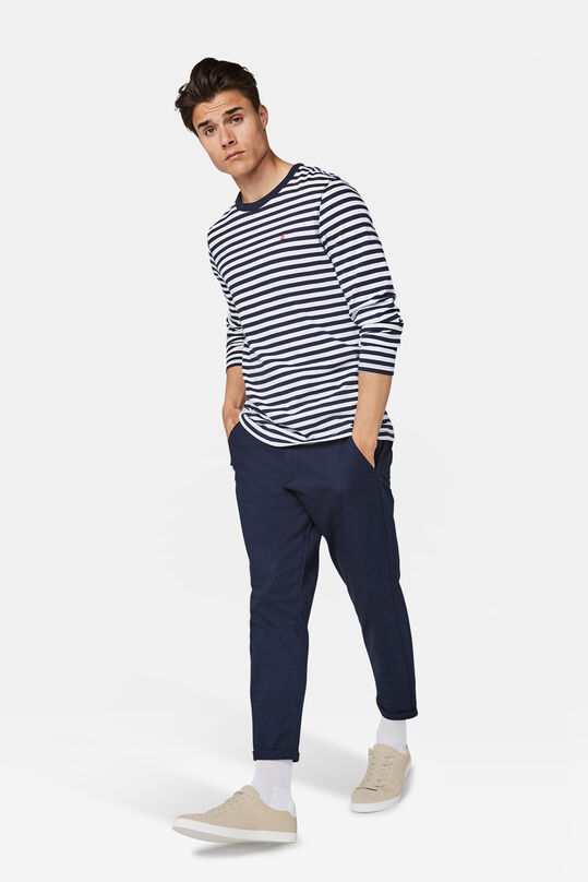 Heren loose tapered chino Marineblauw