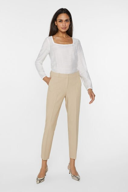 Dames slim fit pantalon Beige