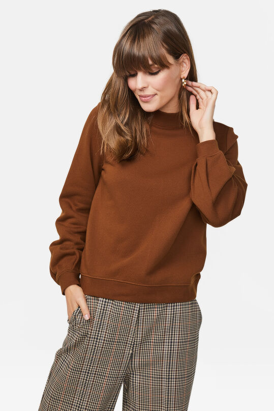 Dames cut-out detail sweater Bruin