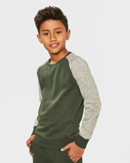 JONGENS RAGLAN SLEEVE SWEATER Legergroen