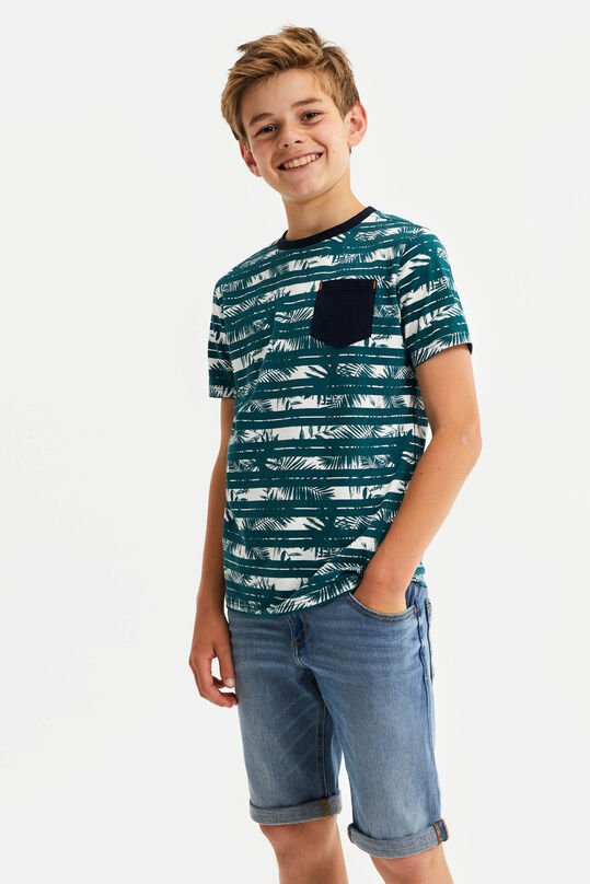 Jongens T-shirt met dessinmix All-over print