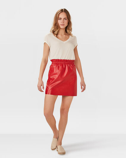 DAMES LEATHER LOOK ROK Felrood