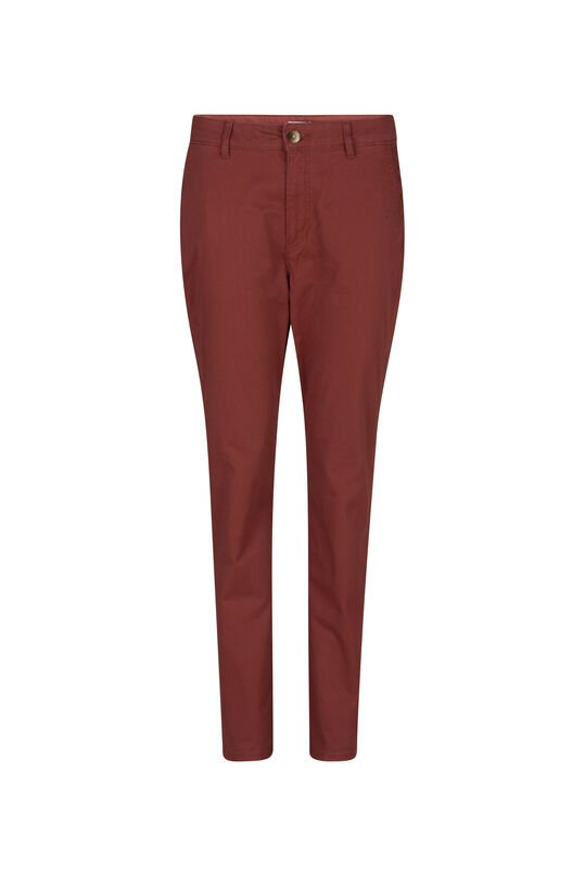 Dames slim tapered chino Rood