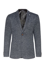 Heren Slim fit blazer Ross_Heren Slim fit blazer Ross, Grijsblauw