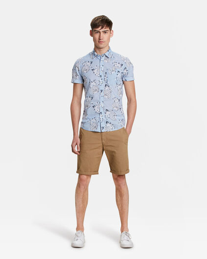 HEREN REGULAR FIT CHINO SHORT Caramel