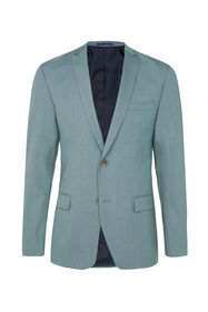 Heren slim fit blazer Dali met stretch_Heren slim fit blazer Dali met stretch, Grijsgroen