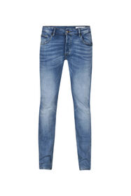 Heren slim tapered jog denim jeans_Heren slim tapered jog denim jeans, Lichtblauw