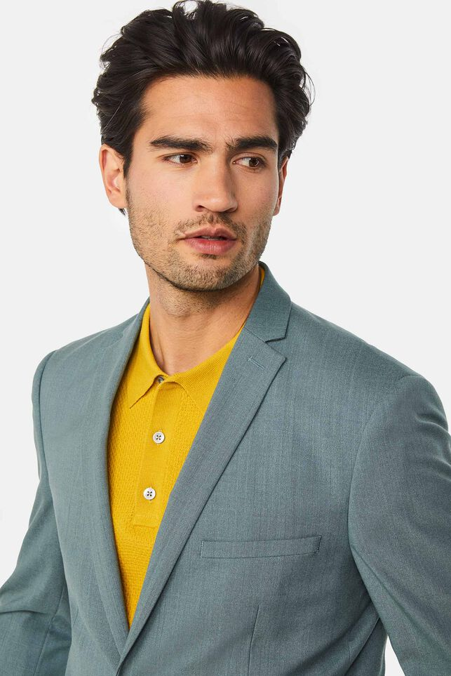 Heren slim fit blazer Dali met stretch Grijsblauw