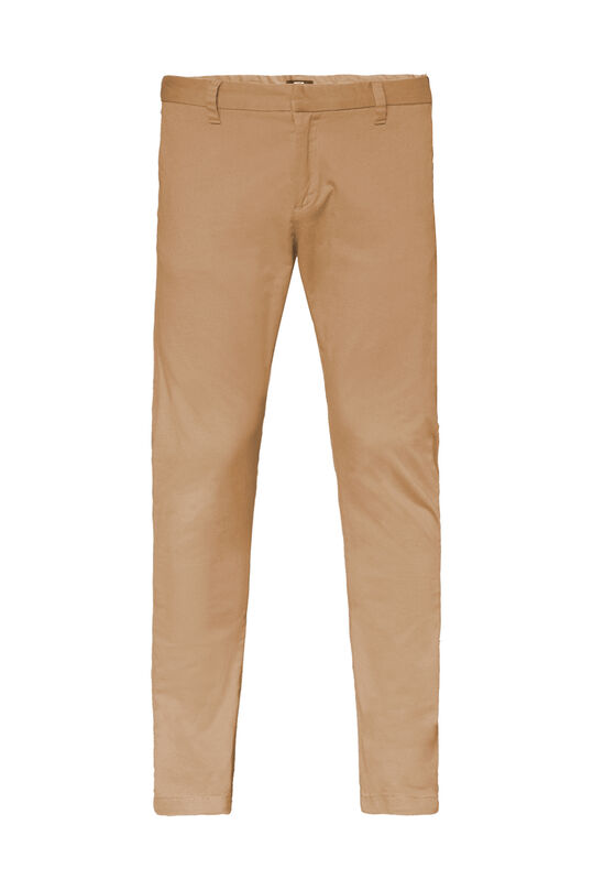 Heren uni slim fit chino Beige