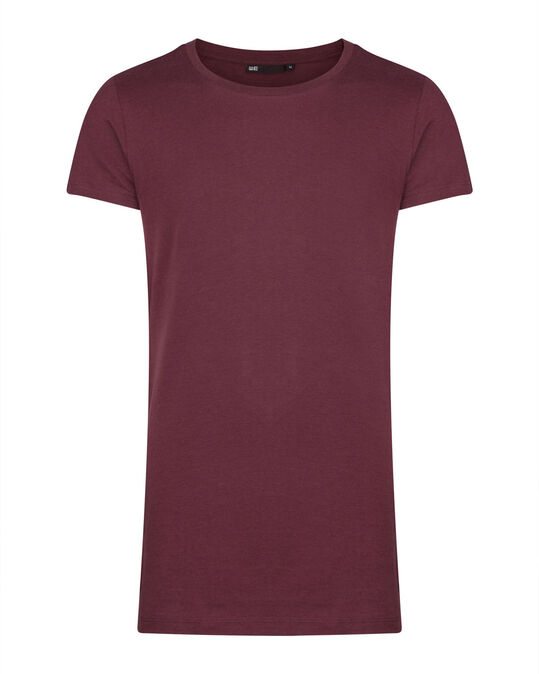 HEREN LONG FIT T-SHIRT Bordeauxrood