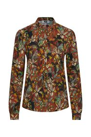 Dames blouse_Dames blouse, Donkerrood