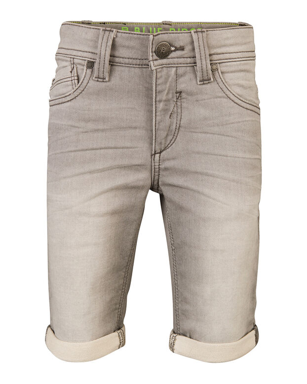 JONGENS SLIM FIT SHORT JOG DENIM Grijs