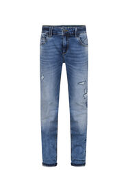 Jongens skinny fit jog denim_Jongens skinny fit jog denim, Blauw