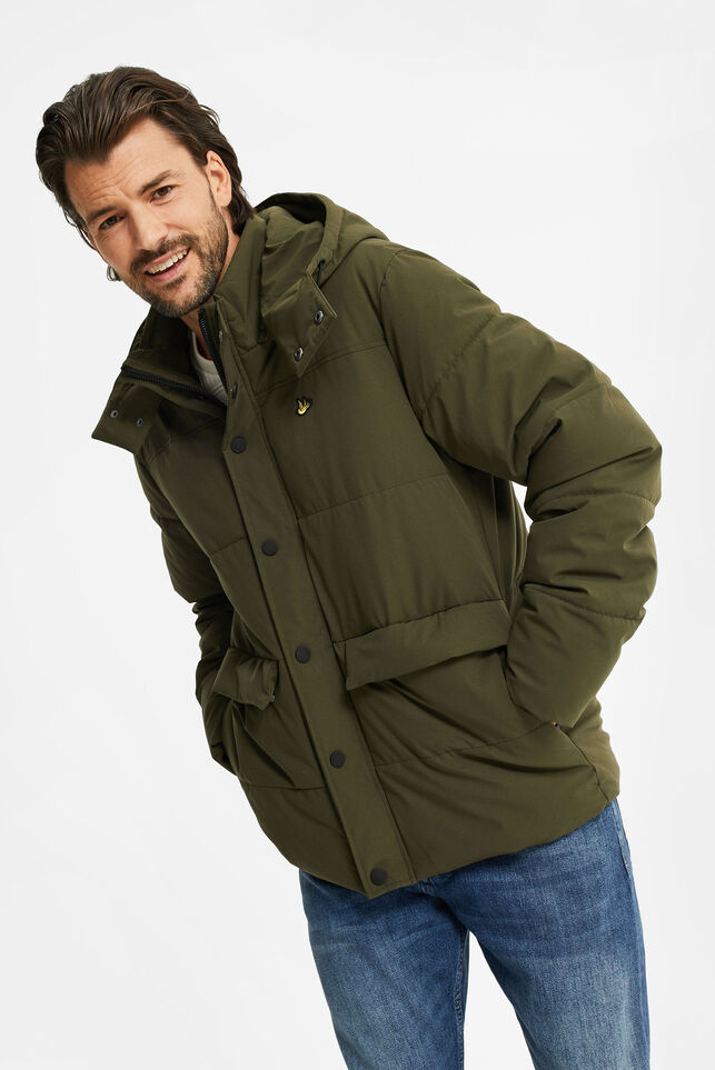 Heren pufferjacket Legergroen