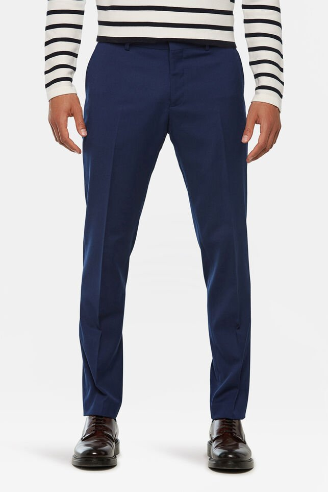 Heren regular fit dali pantalon Kobaltblauw