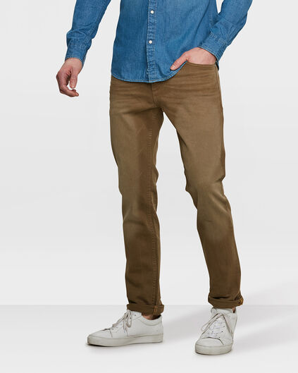 HEREN SLIM TAPERED BROEK Beige