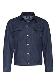 Heren denim jacket_Heren denim jacket, Donkerblauw