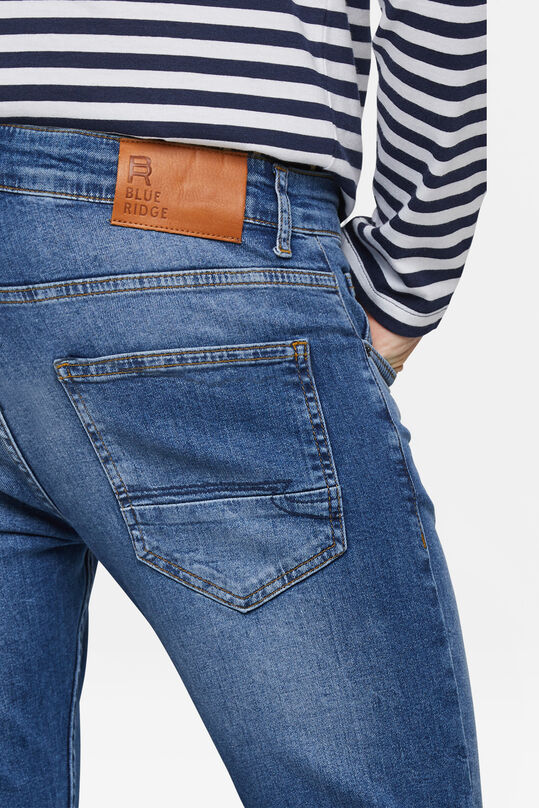 Heren super skinny comfort stretch tapered jeans Blauw