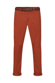 Heren slim tapered effen chino_Heren slim tapered effen chino, Rood