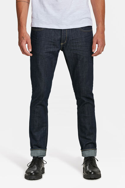 HEREN SLIM TAPERED ORGANIC COTTON COMFORT STRETCH JEANS Donkerblauw