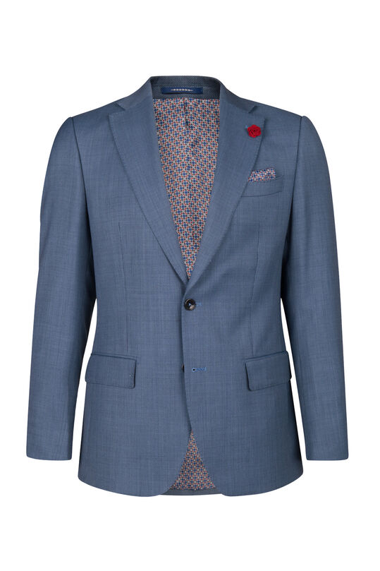 HEREN SLIM FIT BLAZER MEDLEY Marineblauw