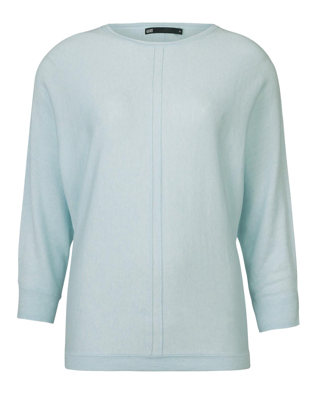 Lichtblauwe Trui Dames.Dames Rib Panel Trui 79268578 We Fashion