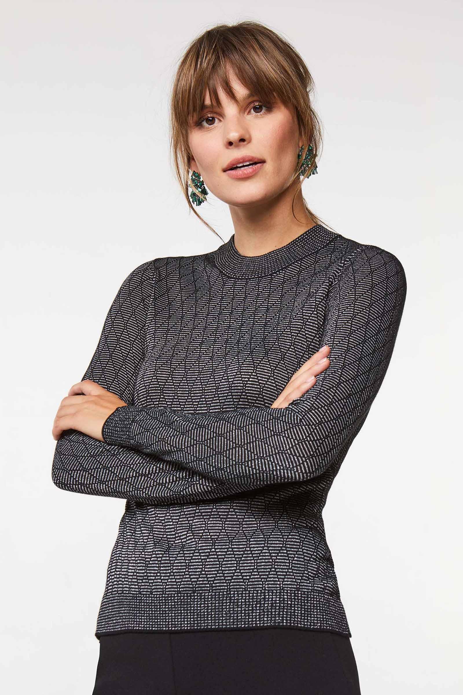 DAMES GLITTER TRUI | 80279099 WE Fashion