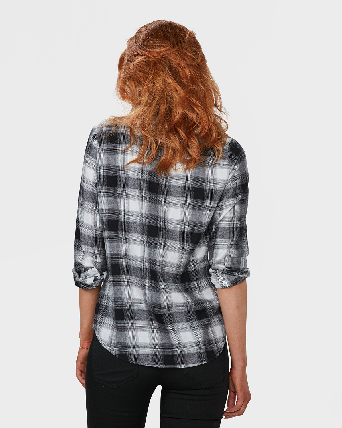 Flanel Overhemd.Dames Flanel Checked Blouse 79484619 We Fashion