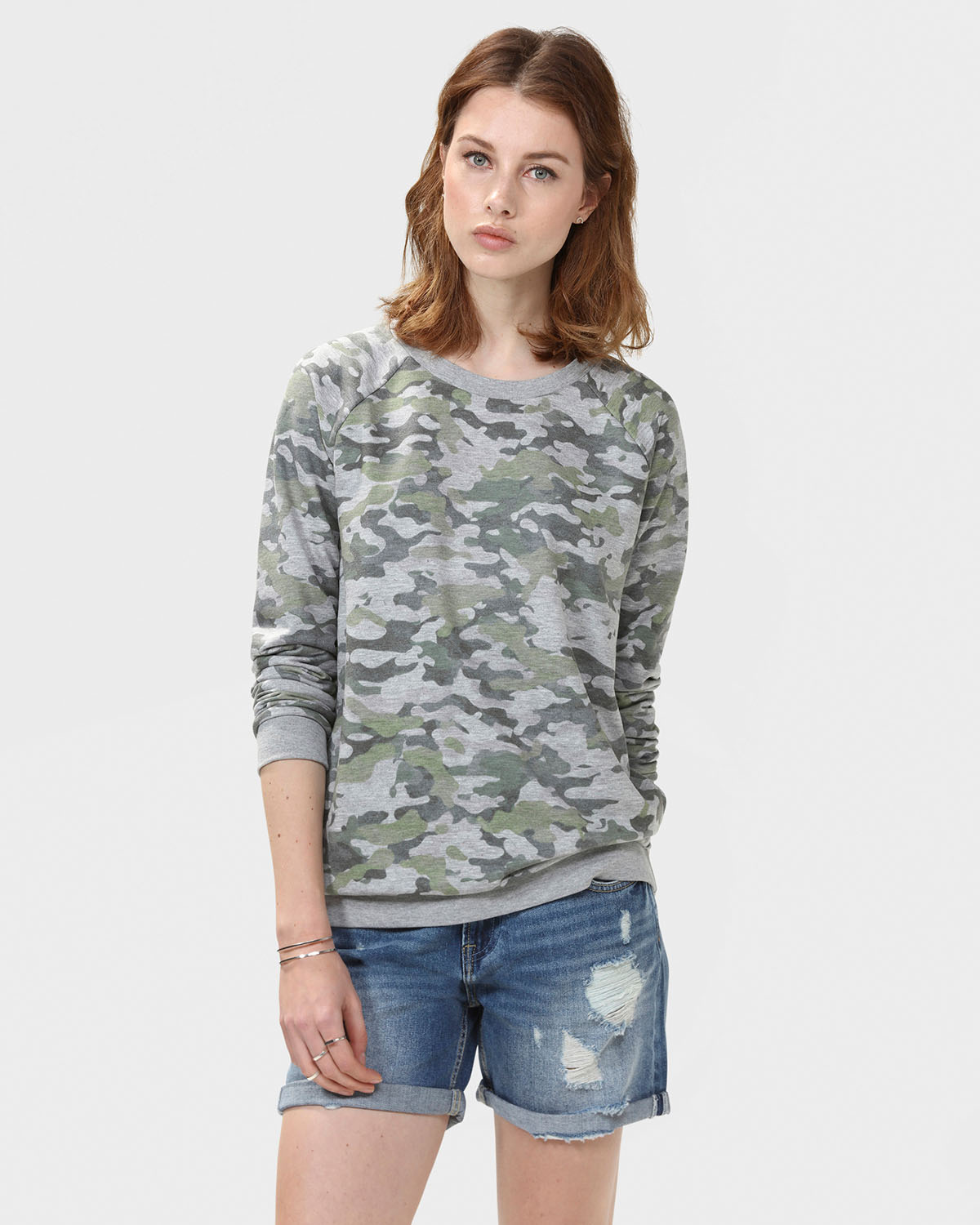 Dames Trui Met Print.Dames Army Print Sweater 79317177 We Fashion